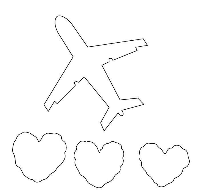 вырезание из бумаги картинки самолет будет